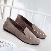 新款布鞋女鞋平底軟底豆豆鞋單鞋時尚舒適孕婦鞋黑色工作鞋  9號潮人館