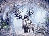 木質拼圖1000片500片夜光風景成人兒童益智減壓玩具麋鹿之家【小酒窩服飾】