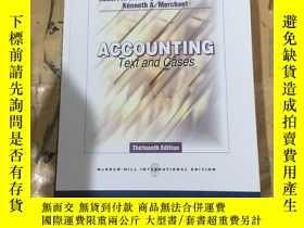 二手書博民逛書店Accounting,罕見Text and CasesY252403 Robert Newton Anthon