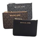 Michael Kors JET SET 素面/LOGO防刮皮革卡夾鑰匙零錢包(多款可選)