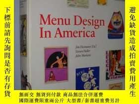二手書博民逛書店Menu罕見design in America : a visu