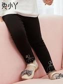 女童打底褲夏季裝2019新品女寶寶幼兒秋季外穿小童黑色加厚兒童褲子