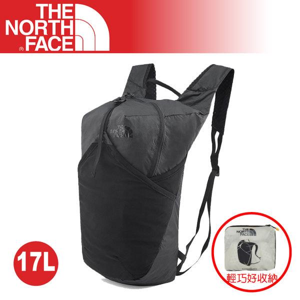 【The North Face 17L 輕量多功能CORDURA背包《黑》】3KWR/Flyweight pack/雙肩休閒背包