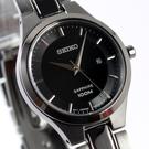 【萬年鐘錶】SEIKO 精工極簡都會女錶日期顯示 藍寶石水晶 IP黑色 防水百米 28mm 7N82-0JF0SD(SXDG51P1)