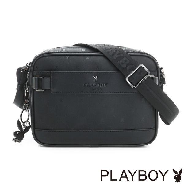 PLAYBOY- 斜背包 黑夜爵士系列-爵士黑