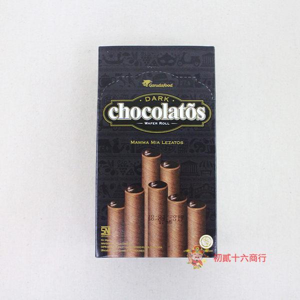 印尼零食日日旺_黑雪茄巧克力威化捲320g_20入【0216零食團購】8992775311486