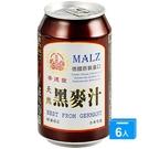 崇德發天然黑麥汁330MLx6入(易開罐)【愛買】