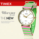 TIMEX 美國第一品牌 Waterbury INDIGLO 夜光指針錶 天美時 帆布 學院風 文青 TW2P91800