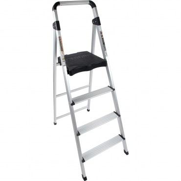 特力屋 四階鋁製輕便寬踏板梯