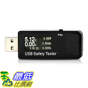 Musou USB Safety Tester USB Digital Power Meter Tester Multimeter Current Monitor DC 5.1A 30V