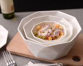 創意純白甜品碗水果沙拉碗創意餐具陶瓷碗