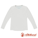 【wildland 荒野】中童 Highest彈性圓領保暖衣『米白』H2660 戶外 休閒 運動 冬季 保暖 禦寒 內著