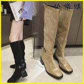 膝上靴-過膝靴長靴長筒高筒皮靴平底靴