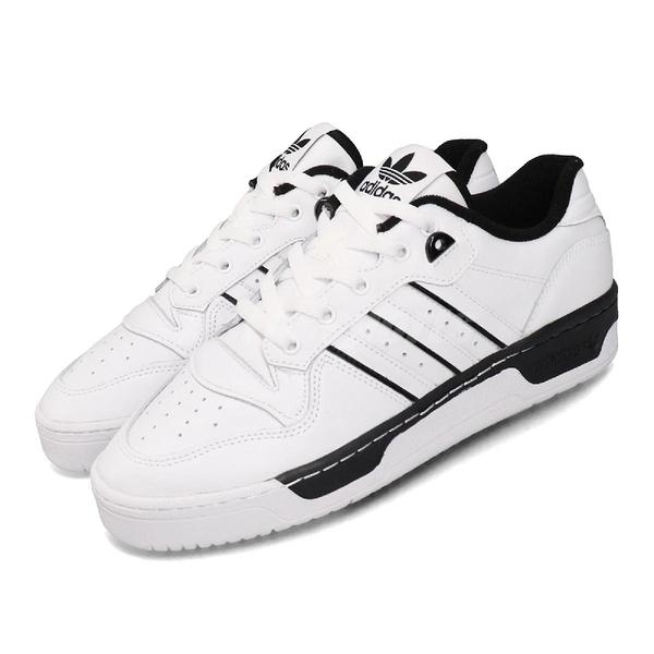 adidas 休閒鞋 Rivalry Low 白 黑 男鞋 運動鞋 皮革 【ACS】 EE4657