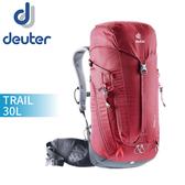 【Deuter 德國 TRAIL 30L輕量拔熱透氣背包《紅》】3440519/雙肩背包/健行包/登山背包/後背包