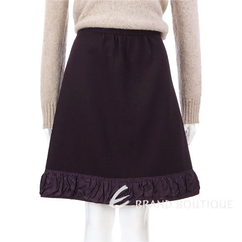 MOSCHINO 紫色皺褶拼接及膝裙 0740173-04