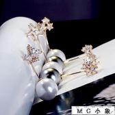簡約大珍珠小花朵蝴蝶結大衣配飾