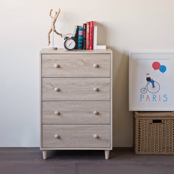斗櫃 收納【收納屋】小木偶四抽斗櫃&DIY組合傢俱