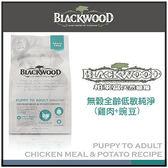 *WANG*《柏萊富》blackwood 無穀低敏純淨犬糧 雞肉加豌豆 5磅
