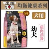 補貨中//【年終回饋】*WANG*紐頓《均衡健康系列-S2幼犬/雞肉燕麥配方》2.72kg