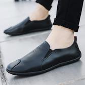 皮鞋【買一雙送一雙】新款春秋季豆豆鞋男士鞋子韓版潮流百搭休閒皮鞋 貝芙莉