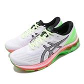 Asics 慢跑鞋 Gel-Kayano 27 Lite-Show 白 綠 男鞋 輕量透氣 運動鞋 【ACS】 1011A885100