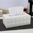 歐式皮革紙巾盒木質 簡約客廳餐巾抽紙盒汽車載家用酒店創意可愛 黛尼時尚精品
