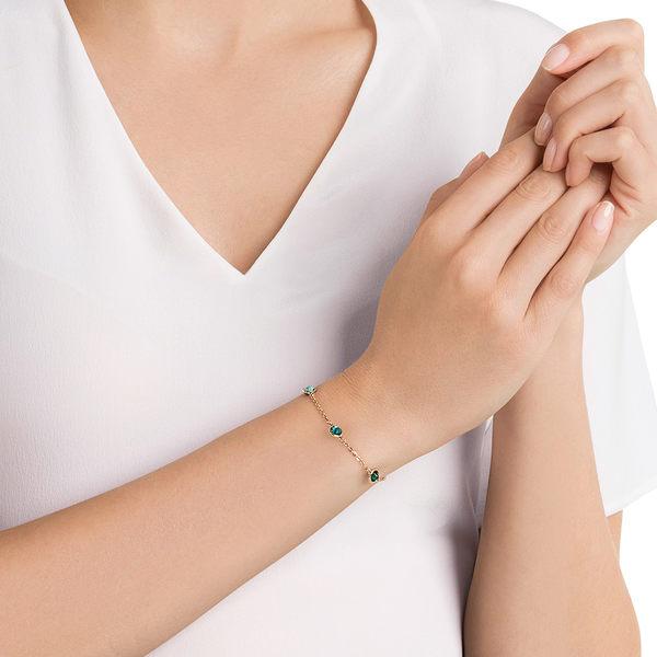 施華洛世奇 Remix Collection Green 優雅亮麗多色設計鍍玫瑰金色飾鏈