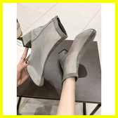 短靴女春秋單靴新款靴子夏季百搭透氣馬丁靴網紗鏤空女鞋