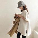 【Charm Beauty】白色 打底衫女 2021年 夏裝 新款 韓版 學生 百搭 寬鬆 半袖上衣 ins潮 短袖t