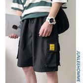 男裝夏季大口袋工裝短褲男士韓版寬鬆休閒五分褲青少年中褲潮 韓流時裳