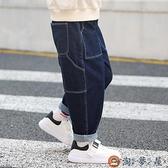 男童牛仔褲兒童加絨長褲寬鬆加厚潮褲秋冬款【淘夢屋】