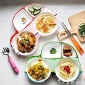寶寶餐盤分格盤小汽車兒童餐具創意可愛卡通家用陶瓷分隔盤早餐盤  薔薇時尚