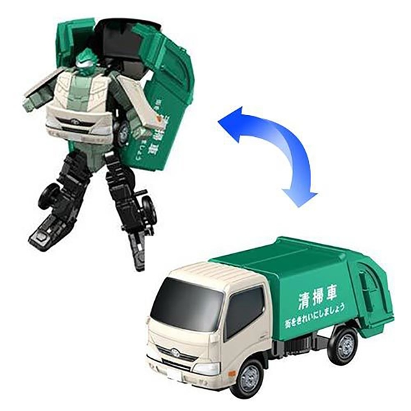 DiaRobo變形金剛車 - DR-0012 TOYOTA DYNA (清掃車)_AG30903