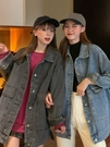 牛仔外套女 牛仔外套女2021新款春百搭韓版復古寬鬆長袖休閒學生上衣【快速出貨八折鉅惠】