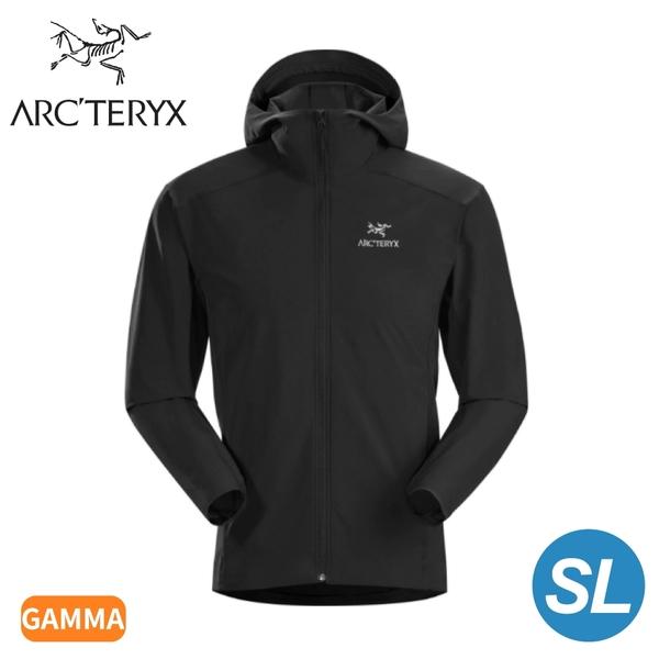 【ARC TERYX 始祖鳥 男 Gamma SL軟殼外套《黑》】28210/連帽外套/輕薄防風