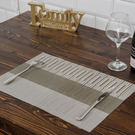 交織編織餐墊45*30cm-生活工場