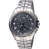 CITIZEN星辰衝鋒時機電波鈦金屬腕錶  AT9091-51H