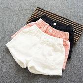 女童牛仔短褲破洞中大童兒童時尚寬鬆熱褲潮
