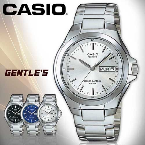 CASIO手錶專賣店 卡西歐 MTP-1228D-7A 男錶 白面 指針式 防水50米 礦物玻璃 三折不繡鋼錶帶