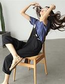 棉麻吊帶褲直筒連身褲子/設計家K4343