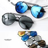 帥氣反光鏡片膠框太陽眼鏡NY432
