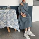 襯裙 秋裝新款韓版法式復古襯衫裙小個子氣質翻領長袖百褶連衣裙女 莎瓦迪卡