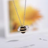 項鍊 925純銀吊墜-可愛小蜜蜂生日情人節禮物女飾品73gj134【時尚巴黎】