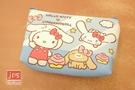 Hello Kitty 凱蒂貓 大耳狗 十字紋零錢包 藍 260722
