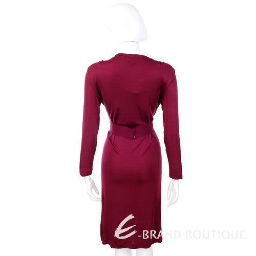 PHILOSOPHY 紅色V領腰帶飾洋裝 1010378-54