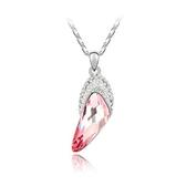 水晶項鍊+925純銀吊墜-高貴時尚生日情人節禮物女飾品5色73bb370【時尚巴黎】