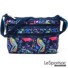 LeSportsac - Standard 橫式三層拉鍊斜背包(熱帶島嶼) 3352P F651