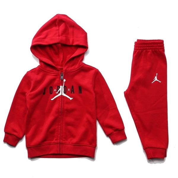 JORDAN 紅 黑LOGO 基本款 外套 長褲 套裝 童裝 (布魯克林) JDBEE6986R78
