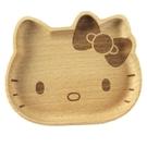 【震撼精品百貨】凱蒂貓_Hello Kitty~日本SANRIO三麗鷗 KITTY 造型木質飾品盤/小物盤-棕/大臉#17635